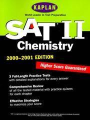 KAPLAN SAT II: CHEMISTRY 2000-2001