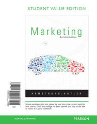 image of Marketing: An Introduction, Student Value Edition (11th Edition)