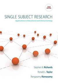 image of Single Subject Research: Applications in Educational and Clinical Settings