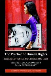 The Practice of Human Rights: Tracking Law between the Global and the Local (Cambridge Studies in...