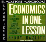 image of Economics in One Lesson: The Shortest and Surest Way to Understand Basic Economics (Library Binder)