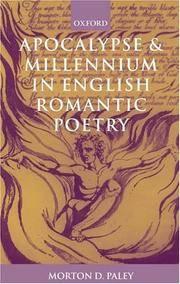 Apocalypse and Millennium In English Romantic Poetry