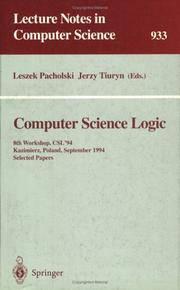 Computer Science Logic: 8th Workshop, CSL '94 Kazimierz, Poland, September 25-30, 1994...