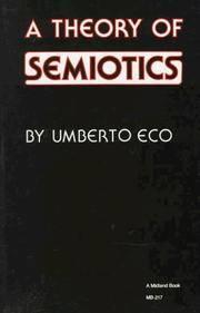 Theory of Semiotics (Advances in Semiotics)
