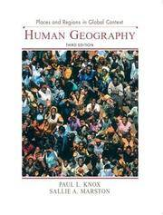 OUTLINES & HIGHLIGHTS FOR PLACES AND REGIONS IN GLOBAL CONTEXT: HUMAN GEOGRAPHY BY KNOX,