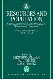 Resources and Population; Natural, Institutional, and Demographic Dimensions Of Development