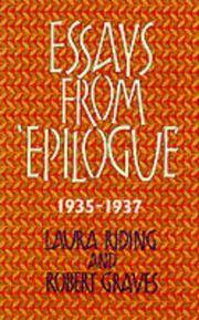 "Essays from ""Epilogue"", 1935-1937 (Lives & letters: the Millennium Graves) by Laura Riding; Robert Graves - 2001"
