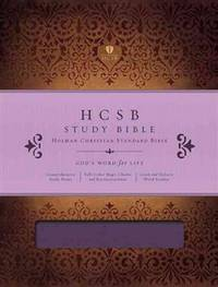 HCSB Study Bible, Mulberry Duotone Simulated Leather : Indexed