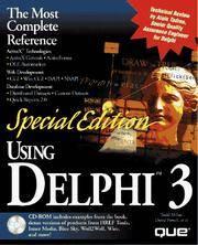 Special Edition Using Delphi 3 (Using ... (Que))