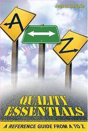 Quality Essentials: A Reference Guide from A to Z