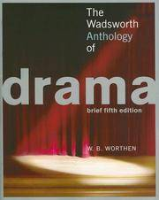 image of Wadsworth Anthology of Drama