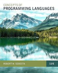 image of Concepts of Programming Languages (12th Edition)
