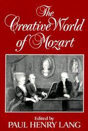 The Creative World Of Mozart