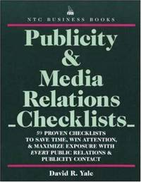 Publicity & Media Relations Checklists [Paperback] Yale, David