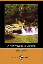 image of A New Voyage to Carolina (Dodo Press)