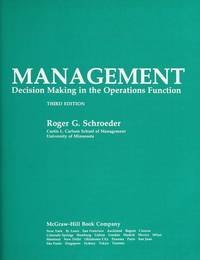 image of Operations Management: Decision Making in the Operations Function (McGraw-Hill series in management)