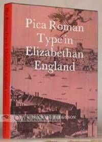 Pica Roman Type in Elizabethan England