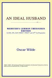image of An Ideal Husband (Webster's German Thesaurus Edition)