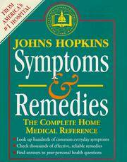 Johns Hopkins Symptoms and Remedies: The Complete Home Medical Reference by  MEDICAL EDITOR  SIMEON - Second Printing - 1995 - from Mark Post, Bookseller (SKU: 30997)