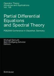 Partial Differential Equations and Spectral Theory (Hardcover, 2002)