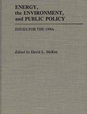 image of Energy, the Environment, and Public Policy: Issues for the 1990s