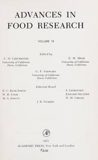 ADVANCES IN FOOD RESEARCH VOLUME 19, Volume 19 (v. 19)