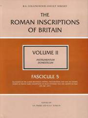 The Roman Inscriptions of Britain: Instrumentum Domesticum: Volume II, Fascicule 5 (Roman...