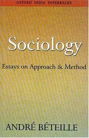 Sociology: Essays on Approach and Method (Oxford India Paperbacks)