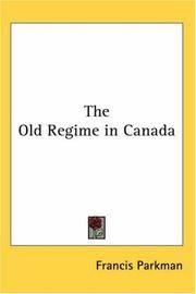 Old Regime In Canada