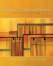 image of Statistics for the Behavioral Sciences