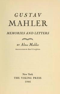 image of Gustav Mahler: memories and letters,