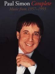 Paul Simon Complete: Music From 1957-1993 (Paul Simon/Simon & Garfunkel) by Paul Simon  - Paperback  - December 1998  - from Montclair Book Center (SKU: 289367)