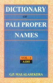 Dictionary of Pali Proper Names, 2 Vols by G.P. Malalasekera - Hardcover - 2007 - from Vikram Jain Books (SKU: 102575)