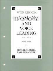 image of Harmony and Voice Leading: Workbook