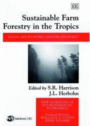 Sustainable Farm Forestry in the Tropics: Social and Economic Analysis and Policy