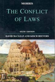 Morris : The Conflict of Laws