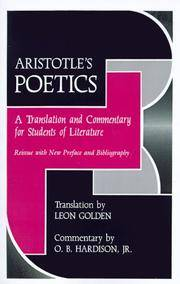 Aristotle's Poetics: A Translation and Commentary for Students of Literature.