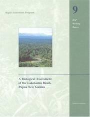 A Biological Assessment of the Lakekamu Basin, Papua New Guinea (Rapid Assessment Program)