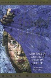 The Prospect Before Her - a History of Women in Western Europe Volume One 1500 - 1800