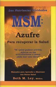 image of MSM: Azufre Para recuperar la Salud (Spanish Edition)