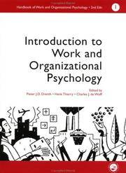 A Handbook of Work and Organizational Psychology: Volume 1: Introduction to Work and...