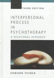 image of Interpersonal Process in Psychotherapy: A Relational Approach