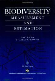 Biodiversity: Measurement and Estimation
