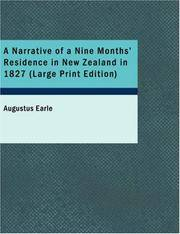 image of A Narrative of a Nine Months' Residence in New Zealand in 1827