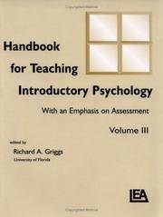 HANDBOOK FOR TEACHING INTRODUCTORY PSYCHOLOGY WITH AN EMPHASIS ON ASSESSMENT VOLUME III