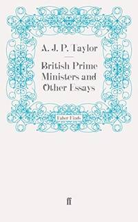 image of British Prime Ministers and Other Essays