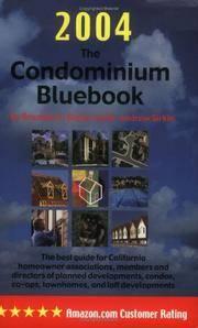 The Condominium Bluebook for California, 2004 Edition
