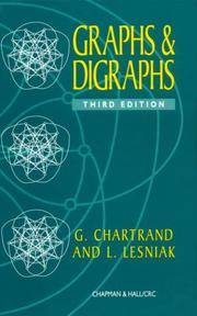 Graphs & Digraphs by Gary Chartrand,L. Lesniak , - 1996