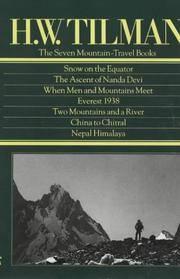 Seven Mountain Travel Books by  H. W Tilman  - Hardcover  - from Better World Books Ltd (SKU: 8591801-6)