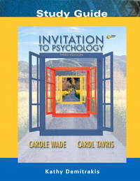 Invitation to Psychology: Study Guide